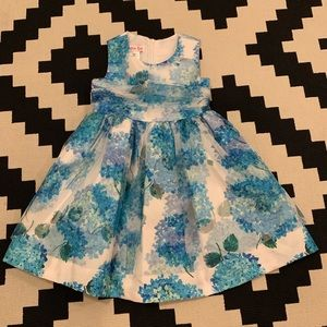 Jessica Ann 4 Girls Hydrangea Formal Dress, EUC